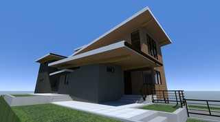 现代美式风格三层双拼别墅平面图
