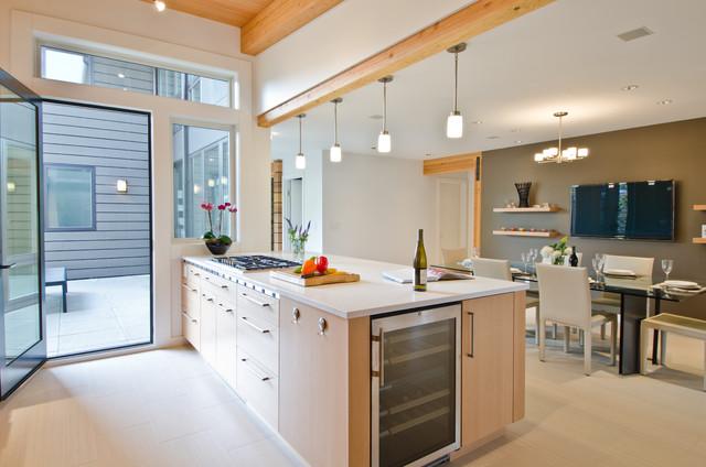 现代美式风格三层连体别墅大方简洁客厅装修效果图