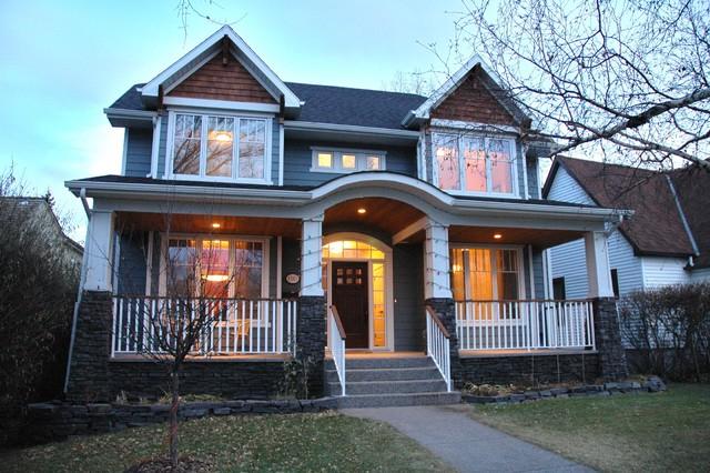 现代美式风格3层别墅设计图