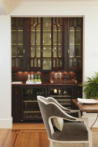 现代欧式风格一层别墅及大方简洁客厅厨房隔断酒柜效果图