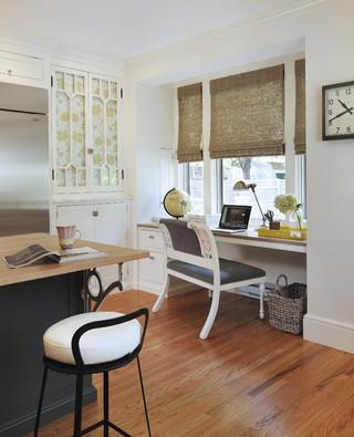 欧式风格家具三层别墅简洁转角书桌书柜图片