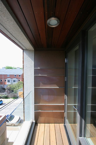 现代美式风格三层半别墅时尚衣柜一楼阳台装修