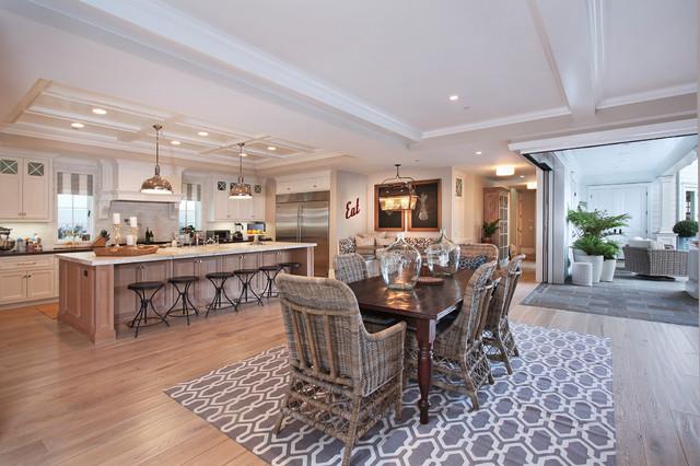 地中海风格卧室一层别墅及豪华厨房家庭餐桌效果图