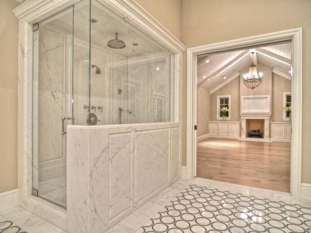 地中海风格客厅三层小别墅豪华淋浴房配件设计图纸