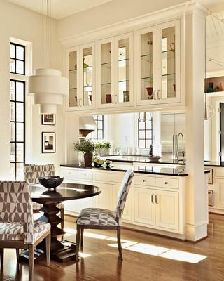 美式风格客厅200平米别墅欧式奢华开放式厨房餐厅设计图