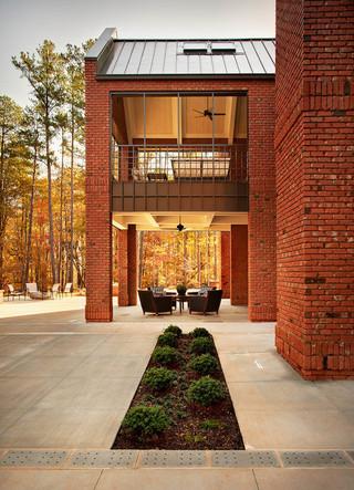 美式风格客厅2013别墅及欧式奢华半封闭阳台设计图