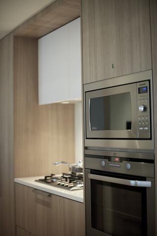 现代简约风格厨房三层连体别墅艺术小家电图片