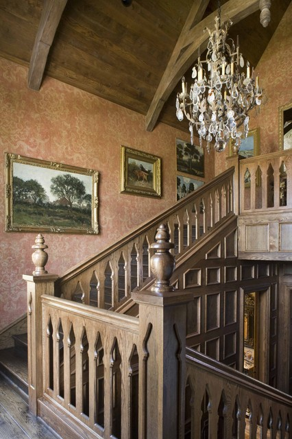 美式乡村风格三层别墅及舒适原木色装修图片