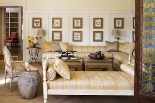 美式风格客厅一层半小别墅舒适米色装修效果图