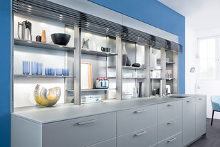 现代简约风格厨房三层独栋别墅大气橱柜定制