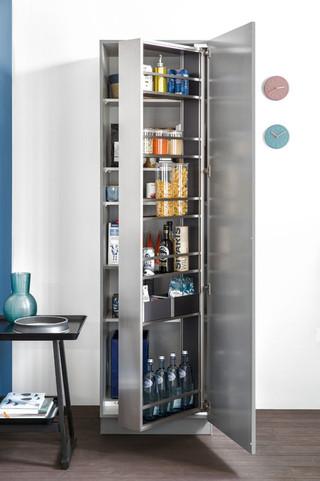 现代简约风格厨房三层小别墅大气家庭装修酒柜效果图