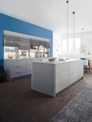 现代简约风格客厅3层别墅大气厨房隔断酒柜效果图