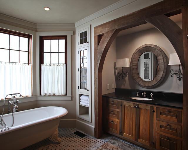 混搭风格三层别墅浪漫卧室整体卫浴装潢