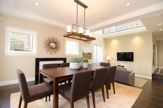 欧式风格客厅300平别墅大气厨房和餐厅效果图