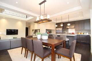 欧式风格家具2层别墅大气家庭餐桌图片