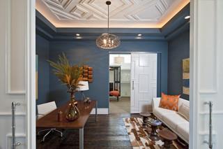地中海风格室内2014年别墅舒适蓝色卧室装修效果图