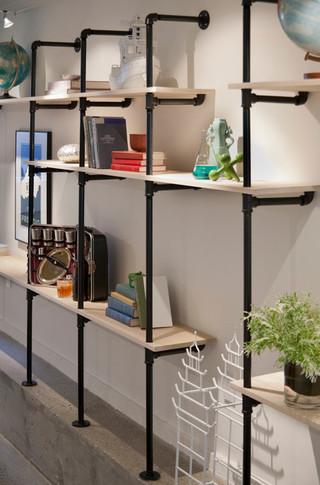 现代简约风格客厅三层独栋别墅时尚片厨房收纳架图片