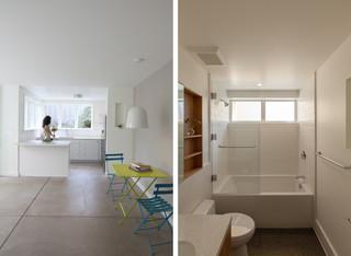现代简约风格客厅小型公寓简洁卧室设计图