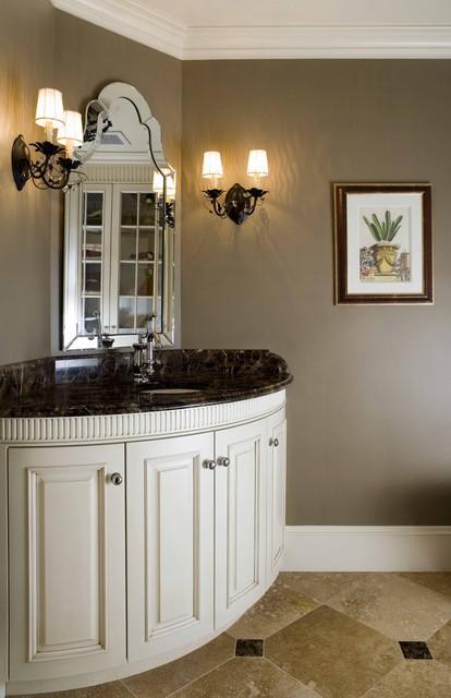 欧式风格客厅三层双拼别墅简洁洗手台图片