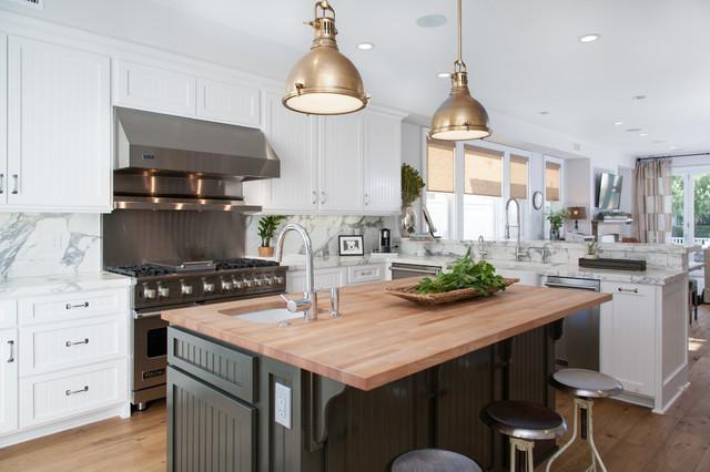 现代美式风格200平米别墅小清新整体厨房颜色装修