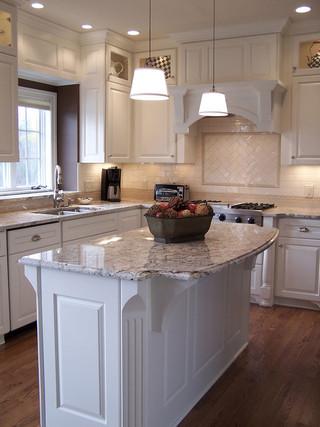 欧式风格单身公寓厨房现代简洁白色简欧风格装修效果图