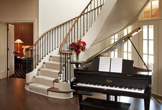 美式乡村风格2014年别墅豪华别墅楼梯装修图片