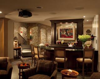 美式乡村风格客厅3层别墅豪华卫生间家庭吧台设计