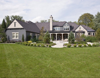 美式乡村风格卧室一层别墅豪华欧式卧室家庭小花园装潢