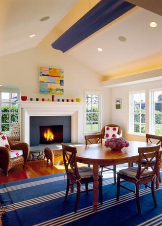 现代美式风格三层独栋别墅大气咖啡色效果图