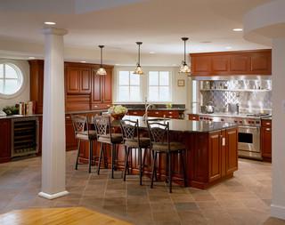 现代美式风格三层小别墅温馨咖啡色装修效果图