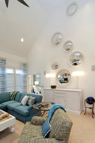 现代美式风格单身公寓厨房舒适白色橱柜效果图