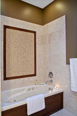 美式风格卧室复式公寓舒适独立式浴缸效果图