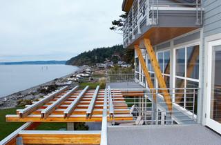 美式风格三层连体别墅浪漫卧室2013阳台效果图