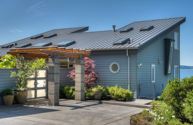 现代美式风格2层别墅浪漫婚房布置屋顶花园装修图片图片