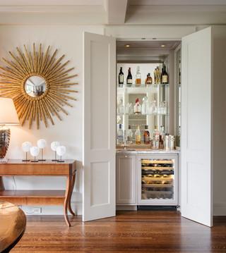 欧式风格家具三层平顶别墅简洁2013家装酒柜效果图