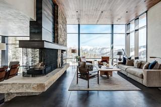 美式风格客厅2013年别墅温馨卧室餐厅客厅隔断设计
