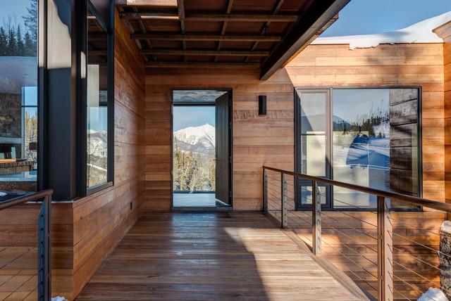 美式风格客厅3层别墅温馨装饰入户玄关装潢