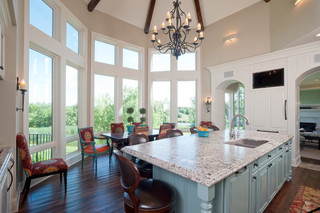 地中海风格2层别墅低调奢华厨房餐厅装修效果图