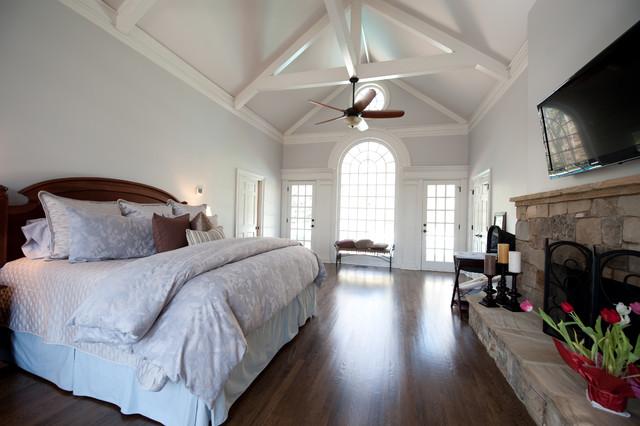 现代欧式风格三层平顶别墅小清新2014卧室装修
