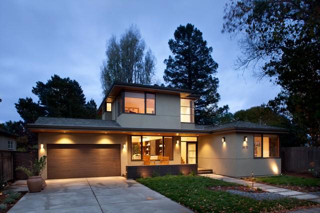 现代简约风格厨房三层小别墅唯美露台花园设计图纸