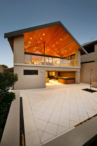 美式风格客厅一层别墅豪华室内入户花园设计图