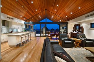 美式风格卧室三层双拼别墅豪华房子客厅沙发摆放装修