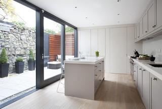 欧式风格三层平顶别墅现代简洁中式别墅大门效果图