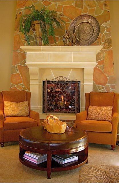 美式风格三层别墅及实用卧室橙色装修图片