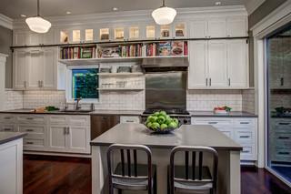 宜家风格客厅三层连体别墅可爱厨房餐厅一体效果图