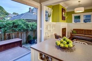 宜家风格三层平顶别墅可爱房间大理石餐桌图片