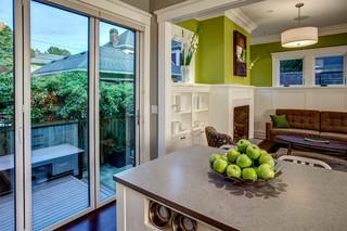 宜家风格三层连体别墅可爱卧室厨房推拉门效果图