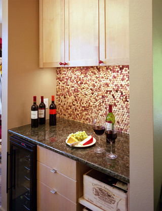 美式风格三层平顶别墅唯美欧式酒柜效果图
