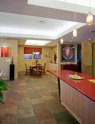 美式风格客厅三层双拼别墅唯美客厅和餐厅的效果图