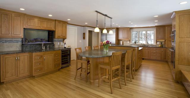 三层别墅半开放式厨房效果图